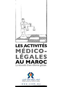 Les activités médico légales au Maroc.