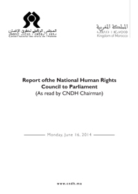 Report of the National Human Rights Council to Parliament